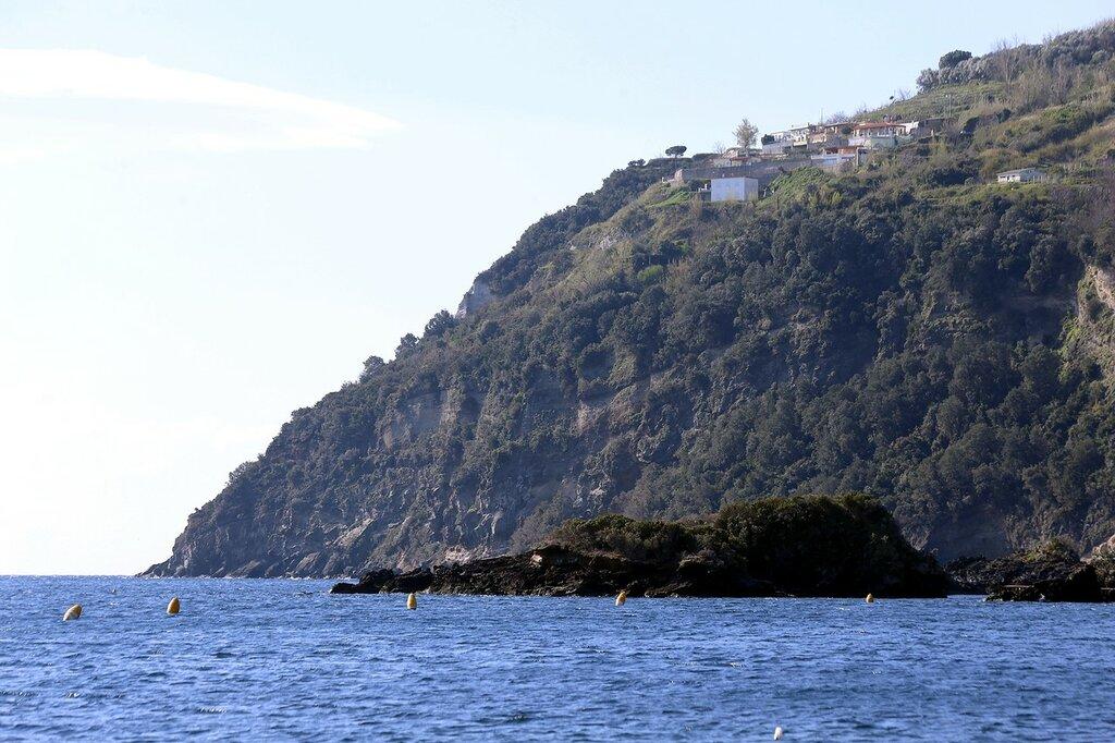 Ischia. Rocks of St. Anne (Scogli Santa Anna), Cape Pisciata (Punta della Pisciazza)