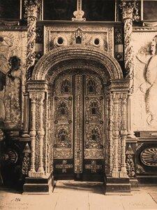 Вид на царские врата в церкви Рождества Богородицы. Сельцо,с.близ Суздаля