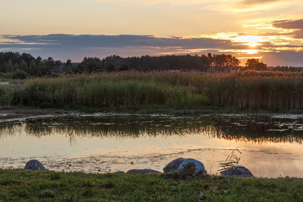 Псковское озеро, закат