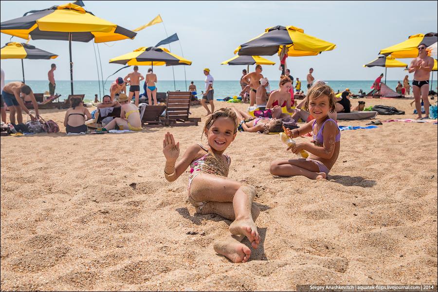 Голые девочки на пляже