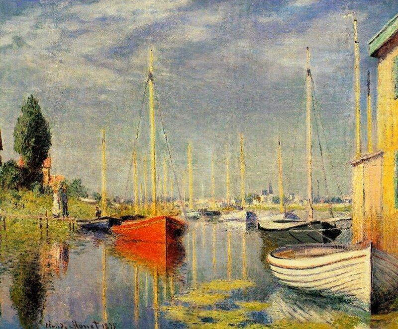 Моне Клод, Яхты в Аржантейе, 1875