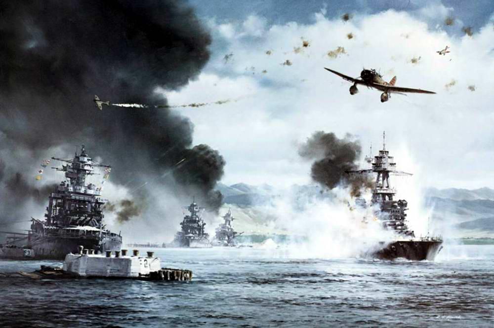 Налет японской авиации на Перл-Харбор 7 декабря 1941 года (R.G. Smith)