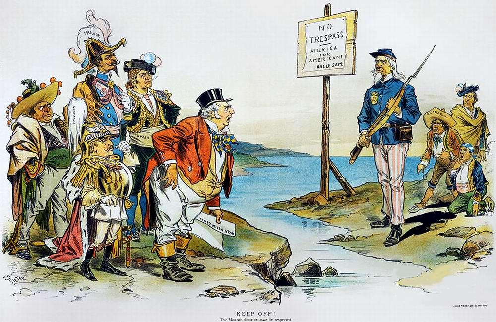 Доктрина Монро: Нет нарушениям границ - Америка для американцев (1896 год)