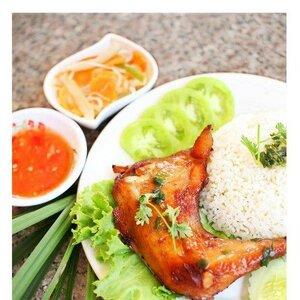 рис и кура, кухня Камбоджи фото
