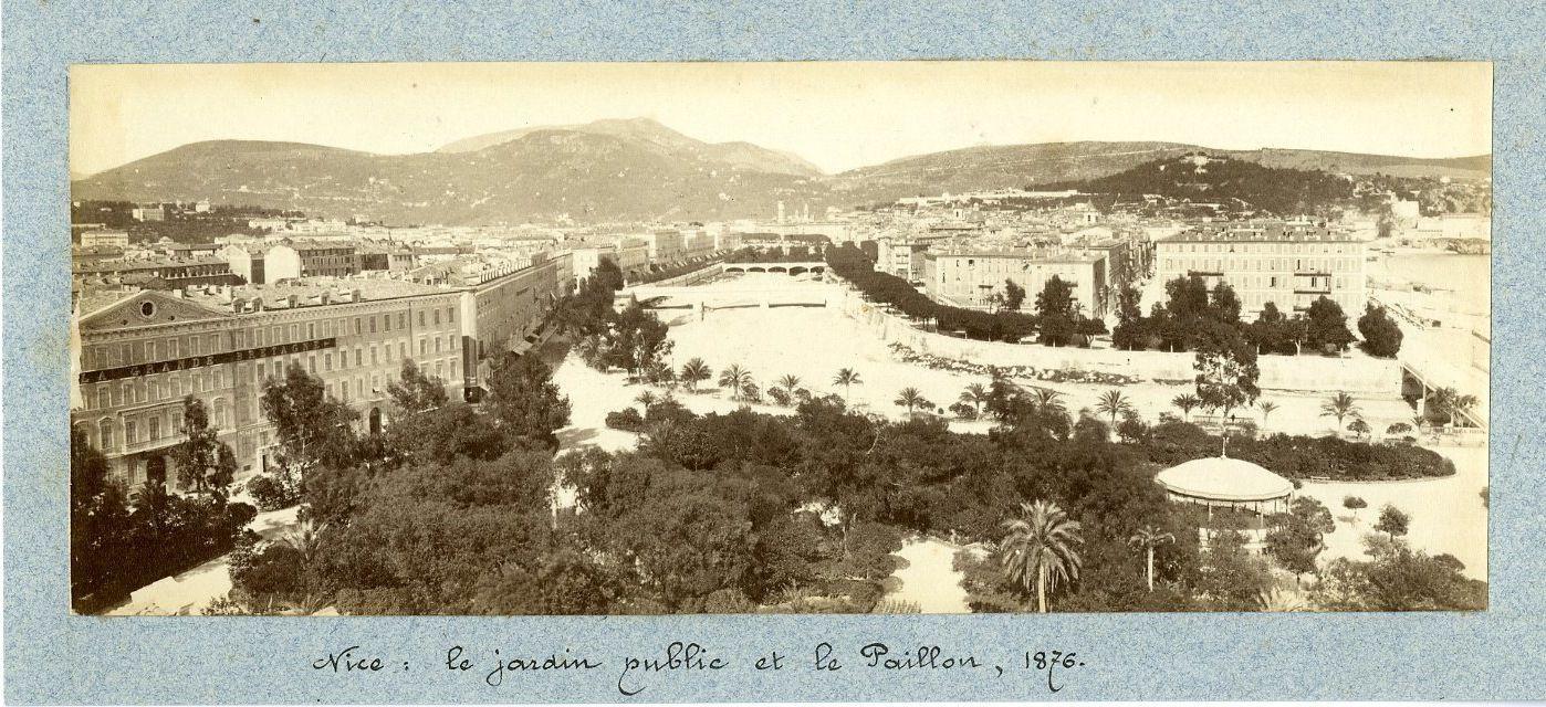 1876. Общественный сад и павильон