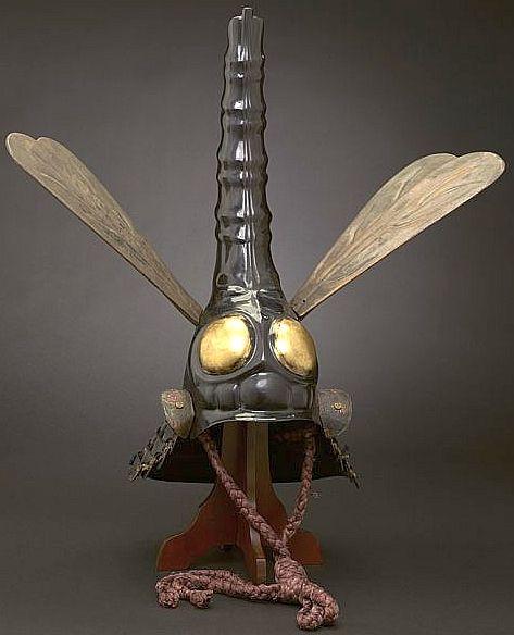 Japanese kabuto (samurai war helmet), 17th c, in the shape of a giant dragonfly.jpg
