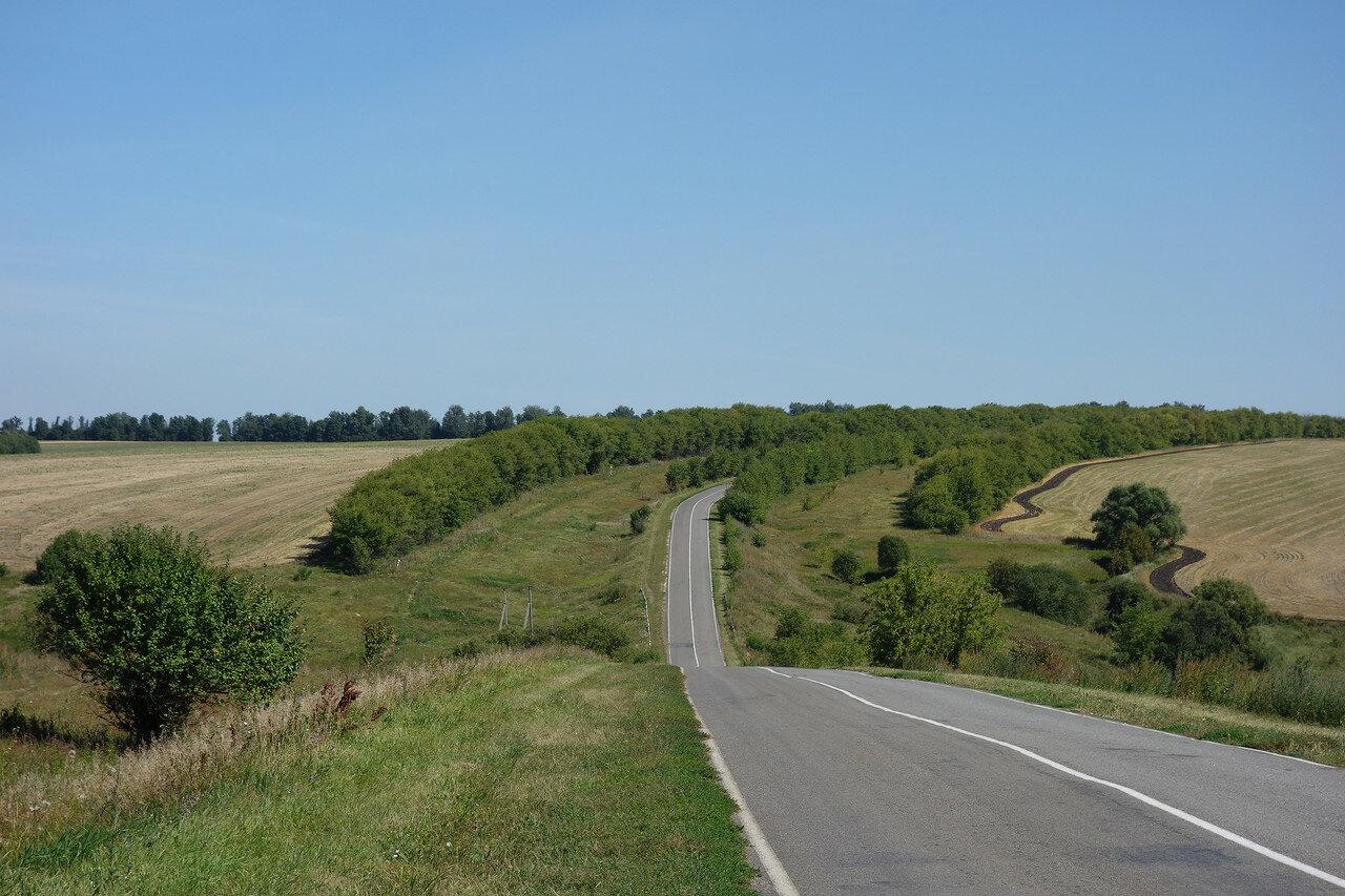 поля и перелески близ села Ржаво