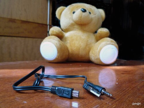 Texet TPA-3005 Winnie Bear (комплектный кабель)