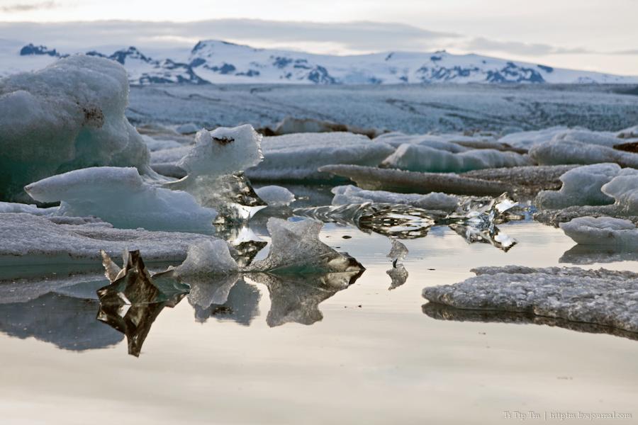 7. Тихий вечер у Ледниковой лагуны.