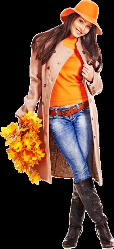Девушка-Осень.Клипарт.