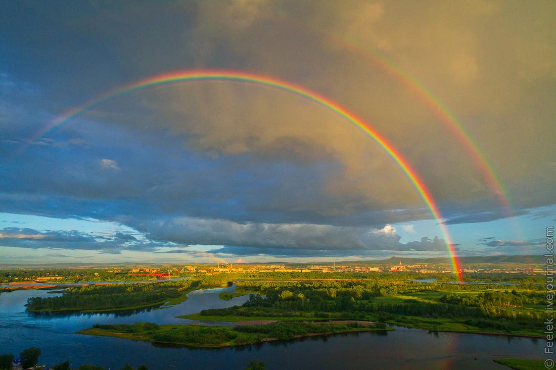 них фото радуги над землей последние годы