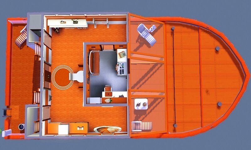 Yacht Orange by Dolkin