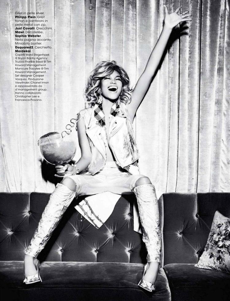 Шанель Иман в журнале Glamour Italia