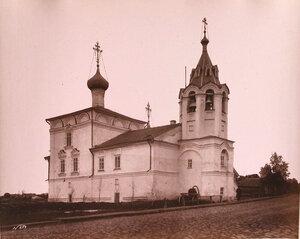 Вид северного фасада церкви Св. Феодора Стратилата (построена в 1565 г.,по другим источникам-в 1628 г.,либо во 2-й половине XVIIв.) Вологда г.