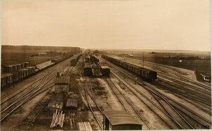 Вид станции и путей с водонапорной башни (в сторону Ковно). Виленская губ. Олита ст.