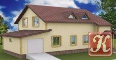Проект индивидуального мансардного дома с гаражом
