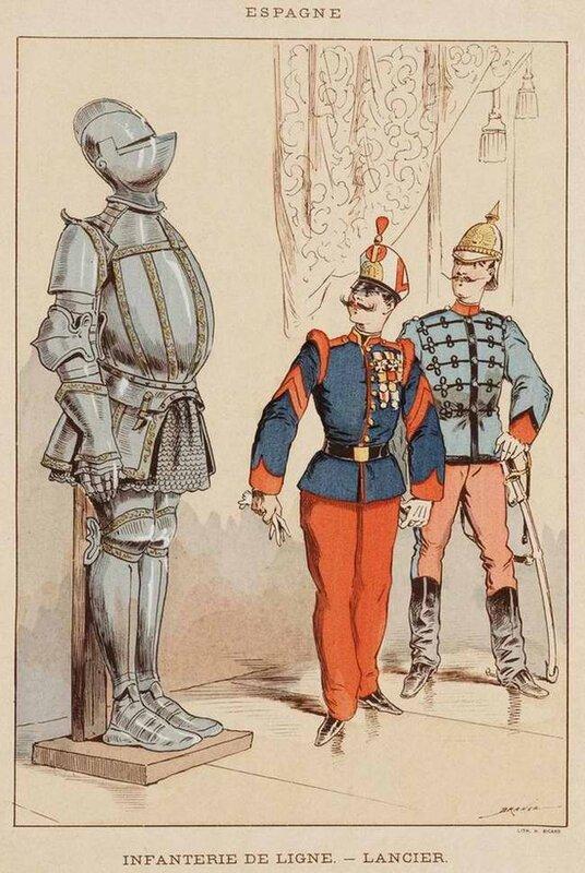 Типы военных из различных стран Европы середины XIX века