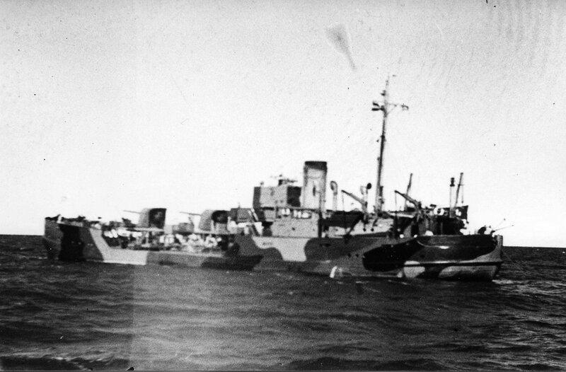 Советская канонерская лодка «Нора» на Ладожском озере