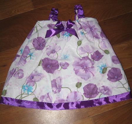 Летнее платье для малышки за 2 часа