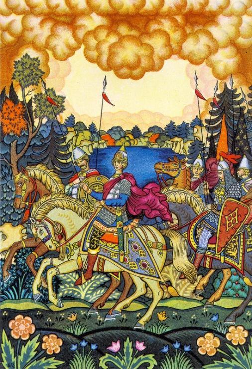 """Б.С. Зворыкин. Иллюстрация к """"Сказке о мёртвой царевне"""""""