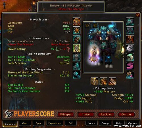 PlayerScore / GearScore (rus) 5.3