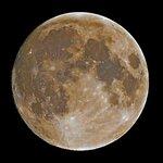 Луна 7.10.2014 (за 17ч до полнолуния )
