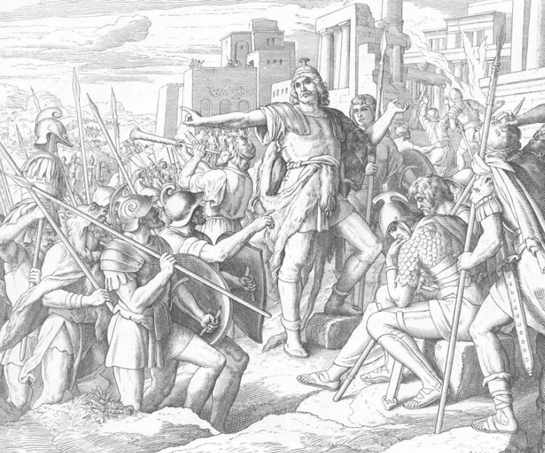 152 Иуда Маккавей побеждает врагов и очищает храм.jpg