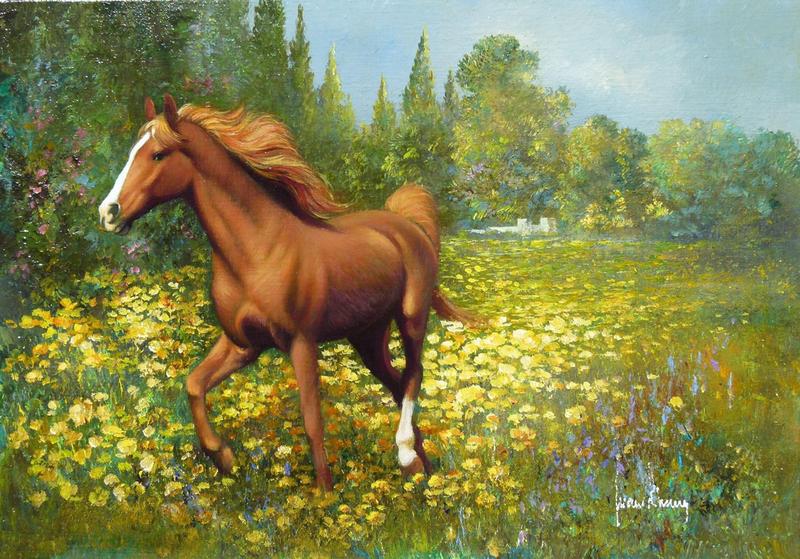 Ты помнишь, на заре, копыта лошадей будили горизонт.  Хуан Фортуни (Juan Fortuny). Испания