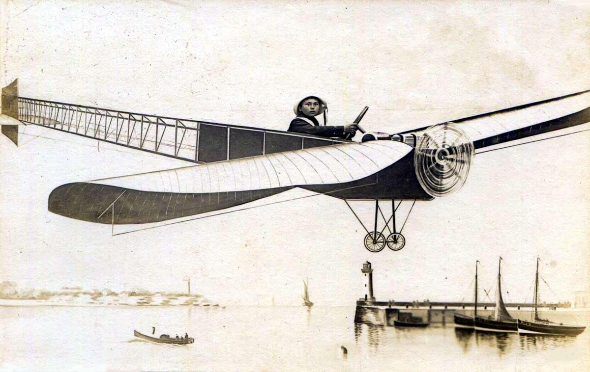 Художественные фоны для фотографий авиационной и воздухоплавательной тематики (27)