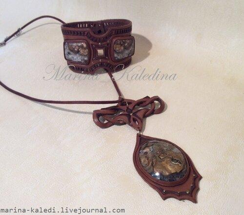 Комплект (22) кулон и браслет