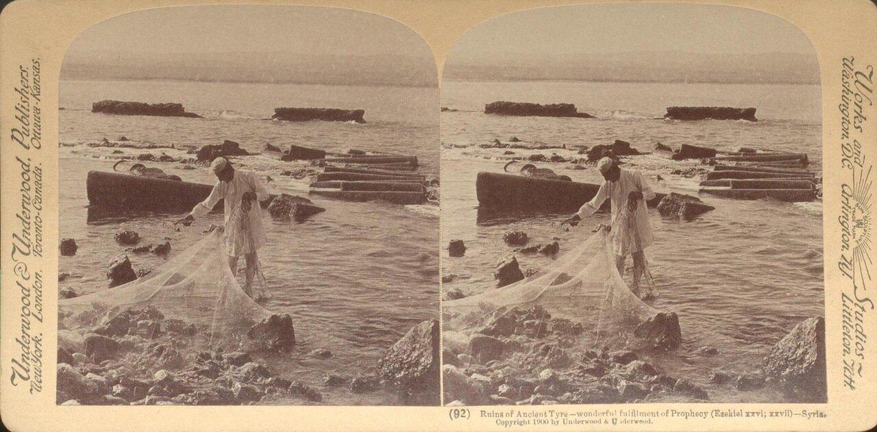 Сирия. Руины древней Тиры. 1900