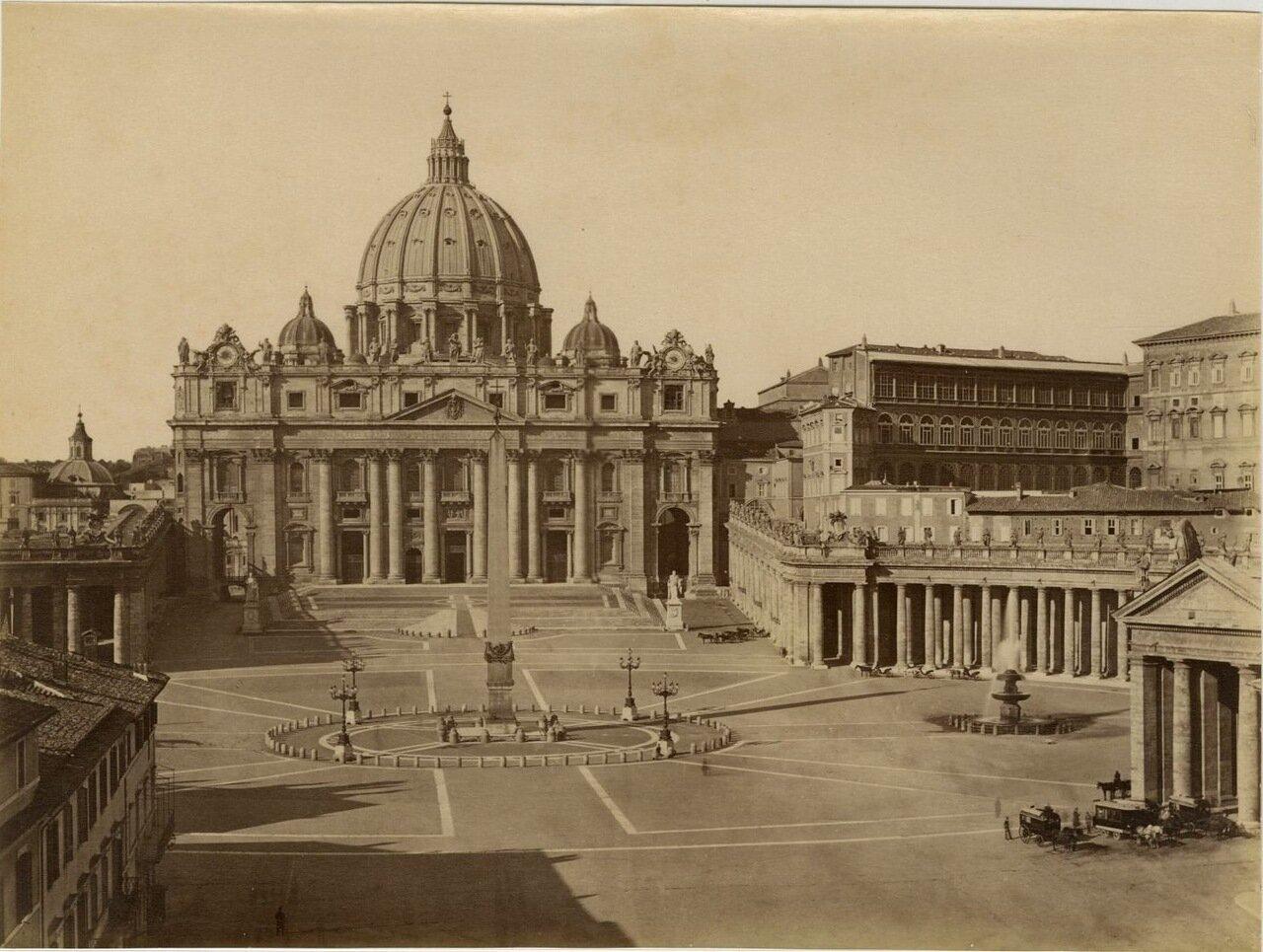 Площадь Святого Петра. Ватикан. 1870.