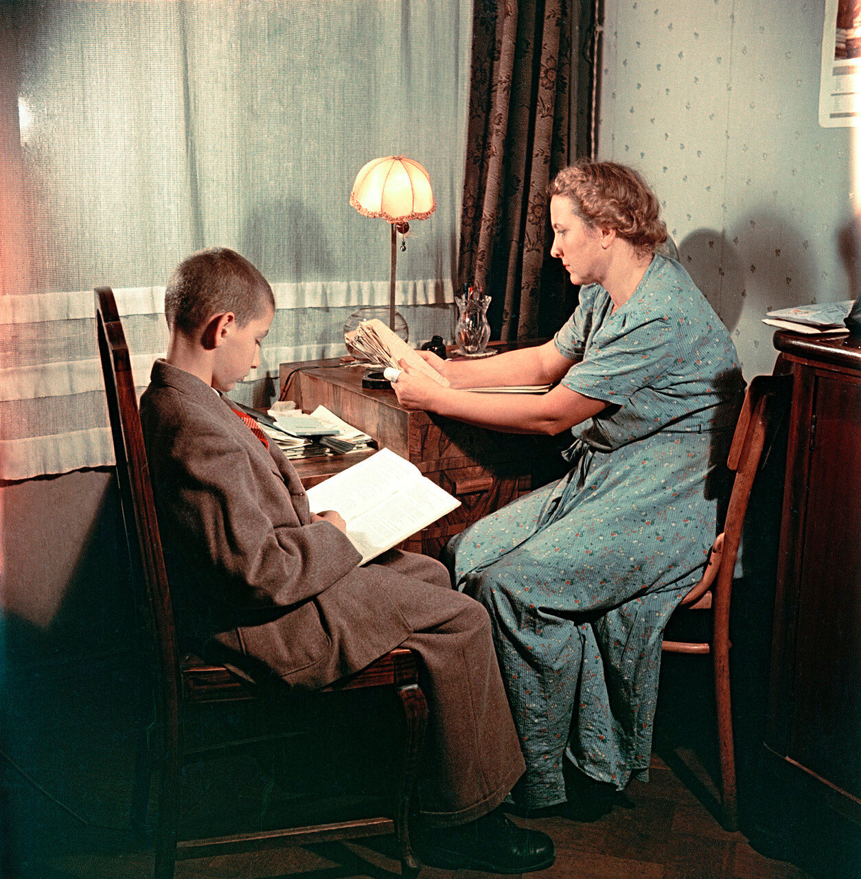 Портрет жены с сыном