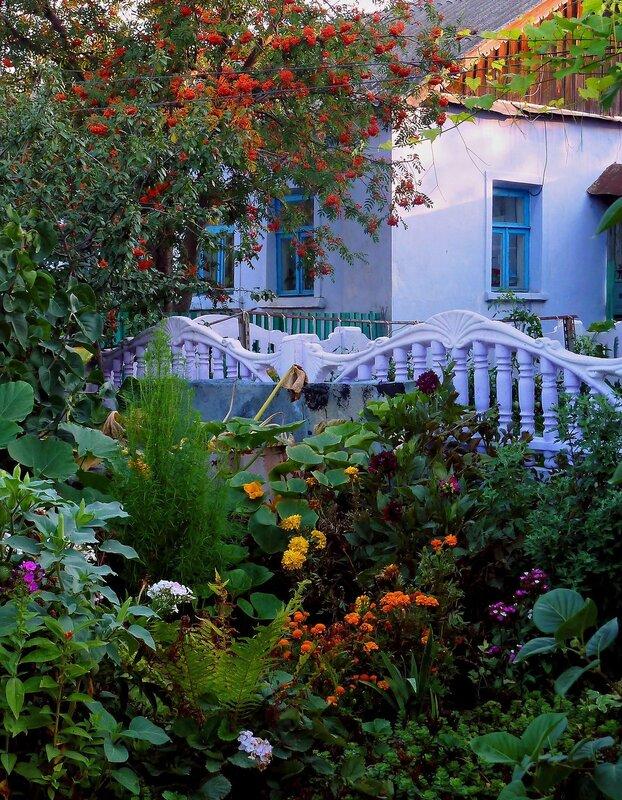 домик с окнами в сад...