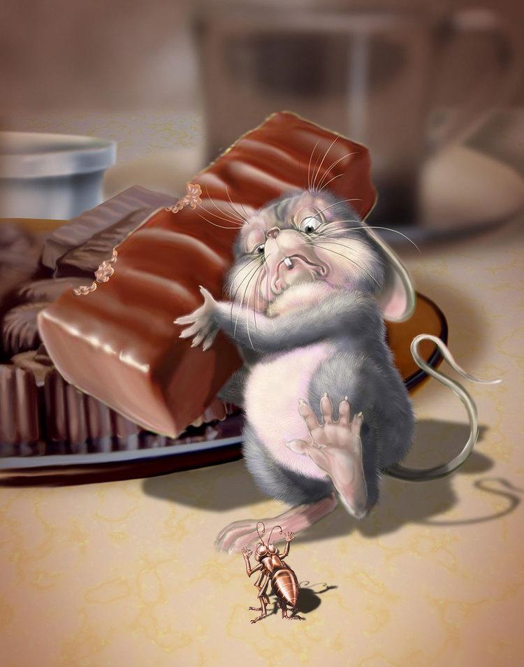 Открытка виноватая мышка