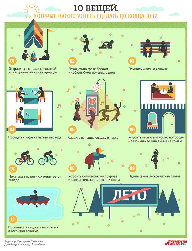 10 вещей, которые нужно успеть сделать до конца лета