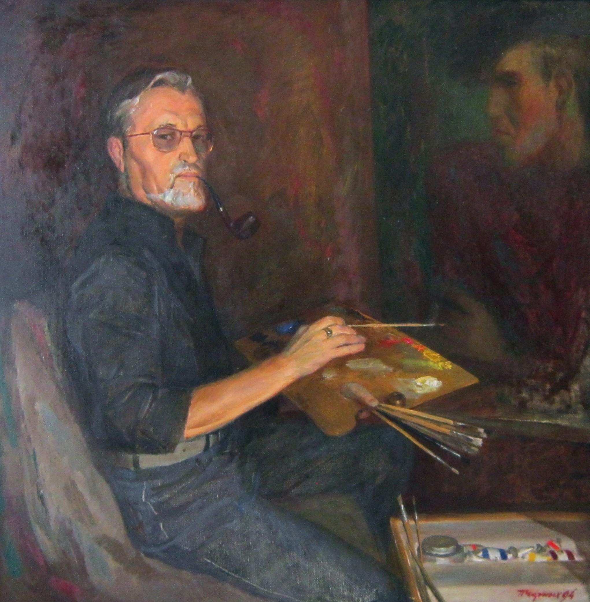 Павел Александрович Черных (1938-1995 гг.). Автопортрет 1994 год.