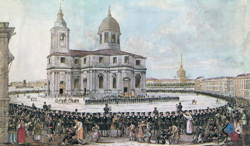 И.А. Иванов. Возвращение Санкт-Петербургского ополчения. 1814 г.