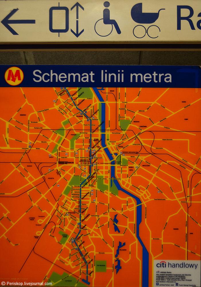 На фото - схема метро с