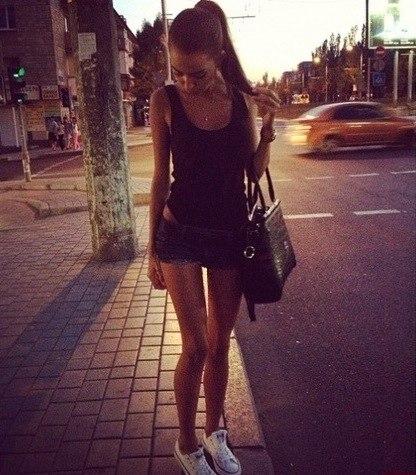 девушка мода стиль шорты майка сумка улица красиво ксения номина обскура блог пост ЖЖ