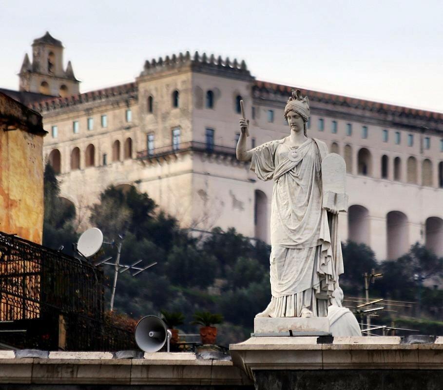 Naples. Plebiscito square (Piazza del Plebiscito)