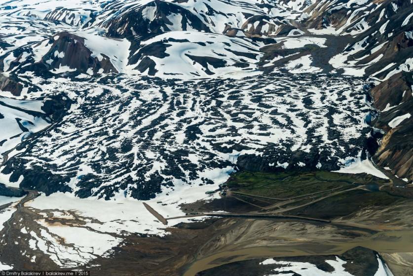 12. Фото того же места, но чуть с другого ракурса. Просто хочу, чтобы вы поняли масштаб потока лавы,