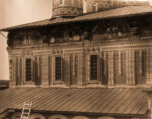 Вид части южной стены Борисоглебского собора. Ярославская губ.