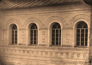 Вид окон паперти церкви Иоанна Богослова (с северной стороны). Ярославская губ.