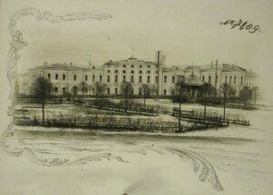Вид здания тылового госпиталя уездного комитета Всероссийского земского союза (в помещении Государственного банка)