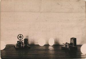 Беспроволочный телеграф, установленный в одном из учебных классов авиароты .