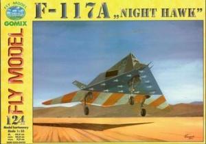 Книга Fly Model №124 - штурмовик F-117A Night Hawk