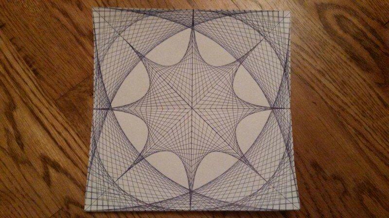Рисунок, нарисованный прямыми линиями.