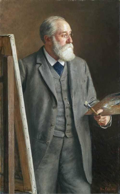 Portrett av Hans Gude malt av Nils Gude, Oslo Museum,.jpg