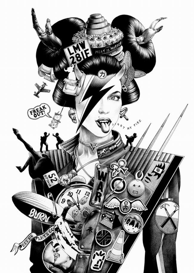 Сумасшедшие рисунки японского художника Shohei Otomo (8)